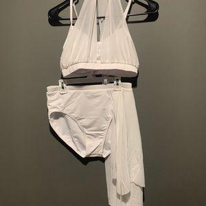 Balera White 2 Piece Dance Costume Adult Medium
